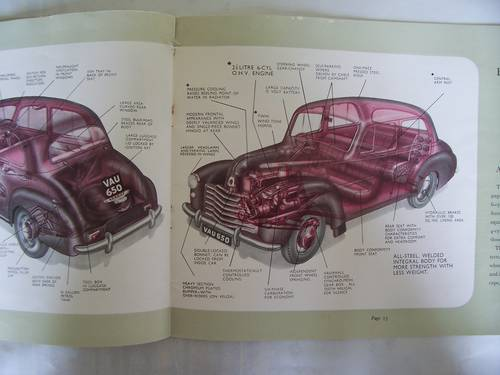 VAUXHALL VELOX-6 & WYVERN-4 SALES BROCHURE 1950 For Sale (picture 6 of 6)