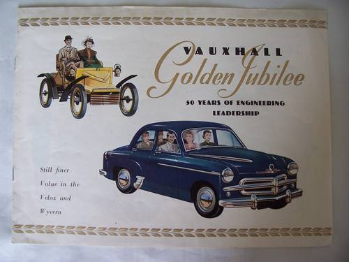 VAUXHALL VELOX & WYVERN SALES BROCHURE 1953 For Sale (picture 1 of 6)