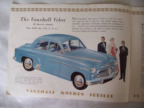 VAUXHALL VELOX & WYVERN SALES BROCHURE 1953 For Sale (picture 2 of 6)