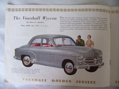 VAUXHALL VELOX & WYVERN SALES BROCHURE 1953 For Sale (picture 4 of 6)