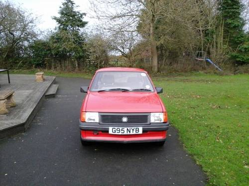1989 G VAUXHALL NOVA 1.2L , 3 DOOR HATCHBACK,  For Sale (picture 1 of 4)