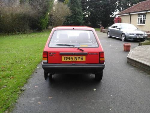 1989 G VAUXHALL NOVA 1.2L , 3 DOOR HATCHBACK,  For Sale (picture 2 of 4)