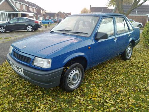 1991 Vauxhall Nova Trip 1.0 saloon For Sale (picture 2 of 6)
