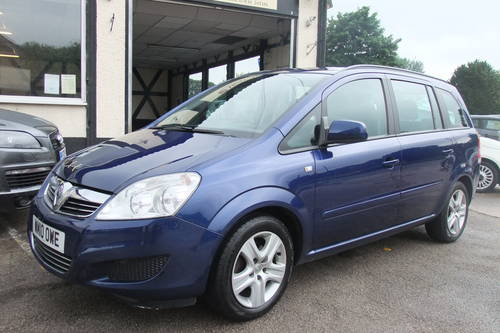 2010 VAUXHALL ZAFIRA 1.6 EXCLUSIV 5DR Manual SOLD (picture 1 of 6)