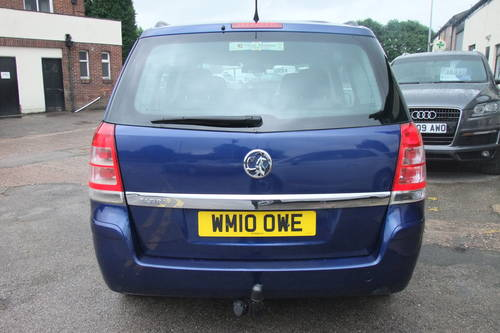 2010 VAUXHALL ZAFIRA 1.6 EXCLUSIV 5DR Manual SOLD (picture 5 of 6)