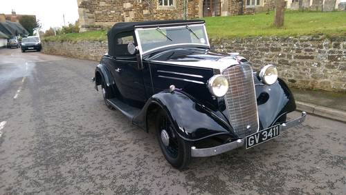 1935 Vauxhall Light Six 2 Door 4 Seater Roadster For Sale (picture 1 of 6)