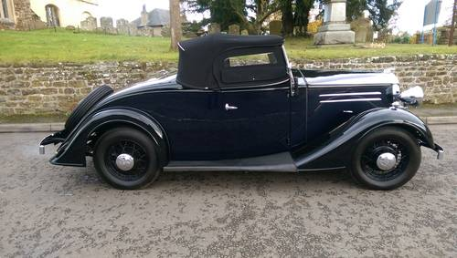 1935 Vauxhall Light Six 2 Door 4 Seater Roadster For Sale (picture 2 of 6)