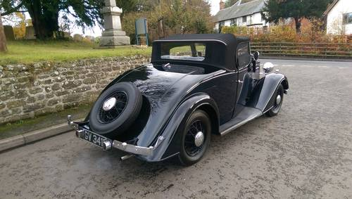 1935 Vauxhall Light Six 2 Door 4 Seater Roadster For Sale (picture 3 of 6)