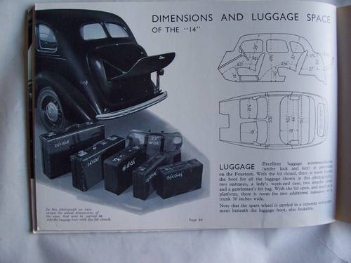 1939/1940VAUXHALL 10/12/14 CATALOGUE For Sale (picture 4 of 6)