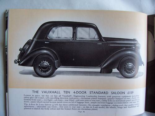 1939/1940VAUXHALL 10/12/14 CATALOGUE For Sale (picture 5 of 6)