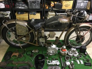 1937 Velocette KSS pre war project. Rigid/girder