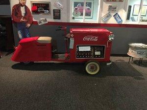 1947 Cushman Cart 3 wheeleer Coke a Cola branded Rare $10.5k For Sale