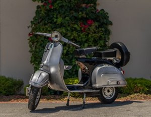 1962 Vespa 150 Sport = 4-Speed clean silver driver $5.5k For Sale