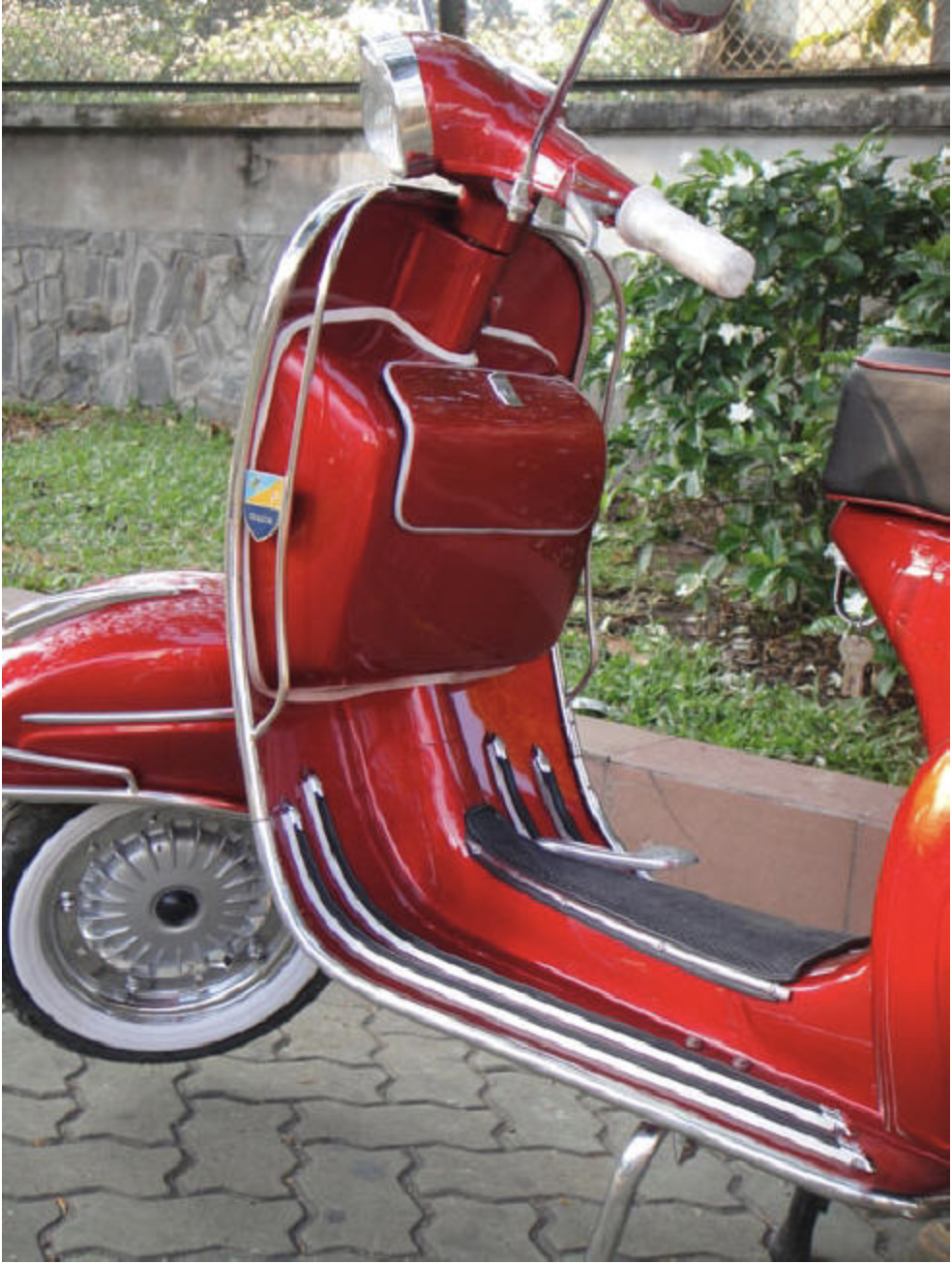 1967 Vespa SS180 - Red - FULLY Restored For Sale (picture 3 of 6)