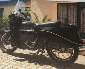 1955 Vincent Black Prince , 1 of 132 in the world