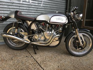 Picture of  NEW  VINCENT engine and Norton frame......NORVIN