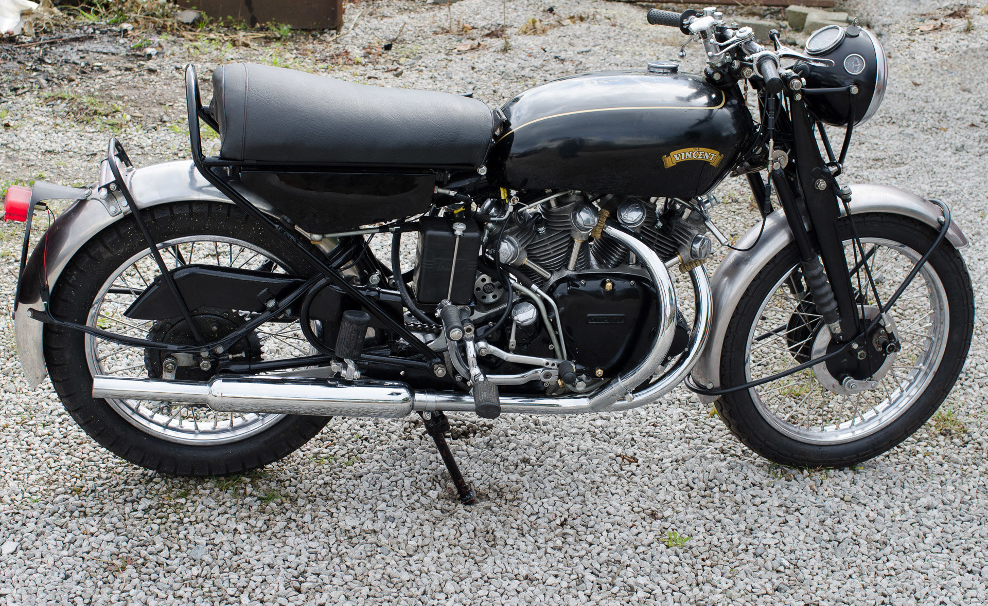 1955 VINCENT BLACK SHADOW &1926 SCOTT FLYING SQUIRREL  SOLD (picture 1 of 3)
