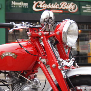 Picture of 1950 Vincent Comet In Chinese Red, RESERVED / SOLD TO SM. SOLD