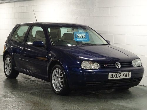 2002 Volkswagen Golf 2.3 VR5 3dr For Sale (picture 1 of 6)