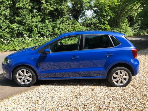 2012 Lovely VW Polo Match 60 in blue 1200cc only 24k For Sale (picture 3 of 6)