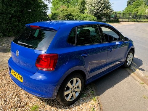 2012 Lovely VW Polo Match 60 in blue 1200cc only 24k For Sale (picture 4 of 6)