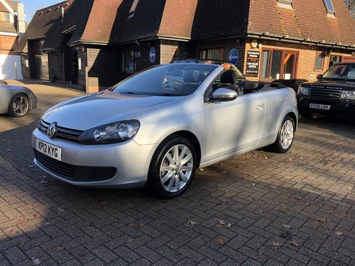 2012 (12) VOLKSWAGEN GOLF 1.6 TDI BLUEMOTION TECH SE CABRIOL For Sale (picture 2 of 6)