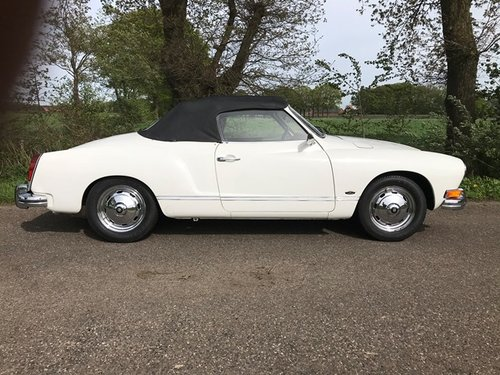 vw karmann ghia convertible 1973 with new engine 150 hp For Sale (picture 1 of 6)