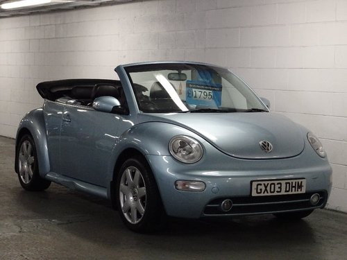 2003 Volkswagen Beetle 2.0 Cabriolet 2dr FULL LEATHER INT For Sale (picture 1 of 6)