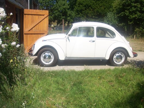 1972 Vw Beetle 1200 Pastel White Sold Car And Classic
