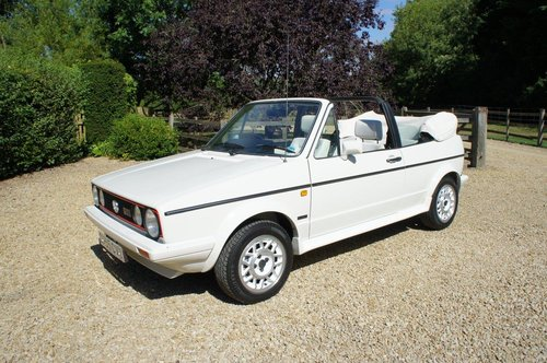 1987 VWGolf GTi Convertible Special 'All White' Edition 21k  For Sale (picture 1 of 6)