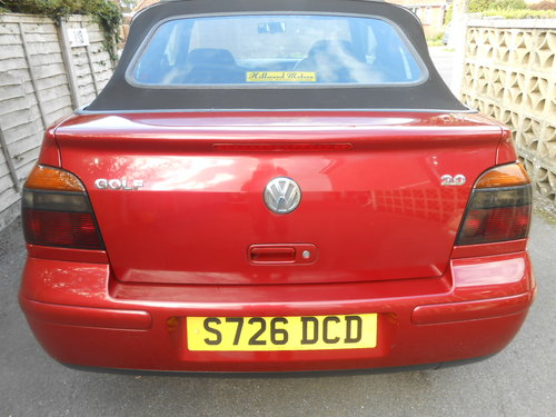 1998 Volkswagen golf cabriolet 2.0 ltr For Sale (picture 4 of 6)