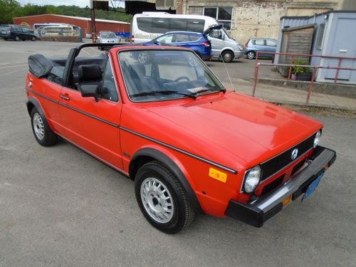 VOLKSWAGEN GOLF MK1 1.7 INJ LHD AUTO CONVERTIBLE(1982) 78K! SOLD (picture 1 of 6)