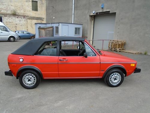 VOLKSWAGEN GOLF MK1 1.7 INJ LHD AUTO CONVERTIBLE(1982) 78K! SOLD (picture 5 of 6)