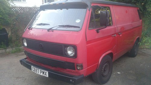 1985 VW T25 Transporter Panel Van aka Beastie For Sale (picture 1 of 5)