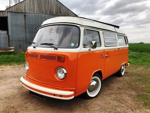 1975 Volkswagen T2 bay window pop top campervan SOLD (picture 3 of 6)