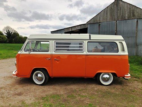 1975 Volkswagen T2 bay window pop top campervan SOLD (picture 4 of 6)
