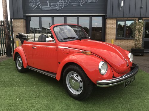 1973 KARMANN CONVERTIBLE BEETLE (74,000 MILES) SOLD (picture 1 of 5)