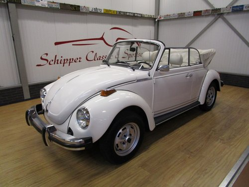1977 Volkswagen Beetle 1303 Cabrio 1.6L inj. Triple White For Sale (picture 1 of 6)