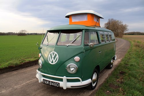 1966 VW Split Screen Camper Van – Pop Top – Rare Special Ord For Sale (picture 1 of 6)