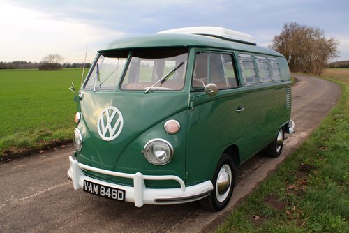 1966 VW Split Screen Camper Van – Pop Top – Rare Special Ord For Sale (picture 3 of 6)