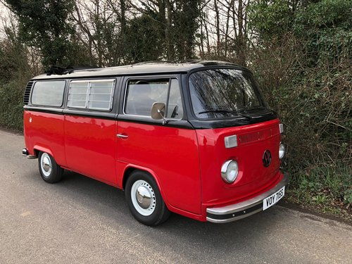 1977 VW Bay Window Camper Van – Right Hand Drive. For Sale (picture 1 of 6)