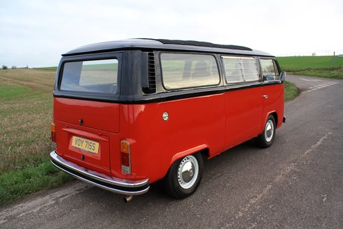 1977 VW Bay Window Camper Van – Right Hand Drive. For Sale (picture 3 of 6)
