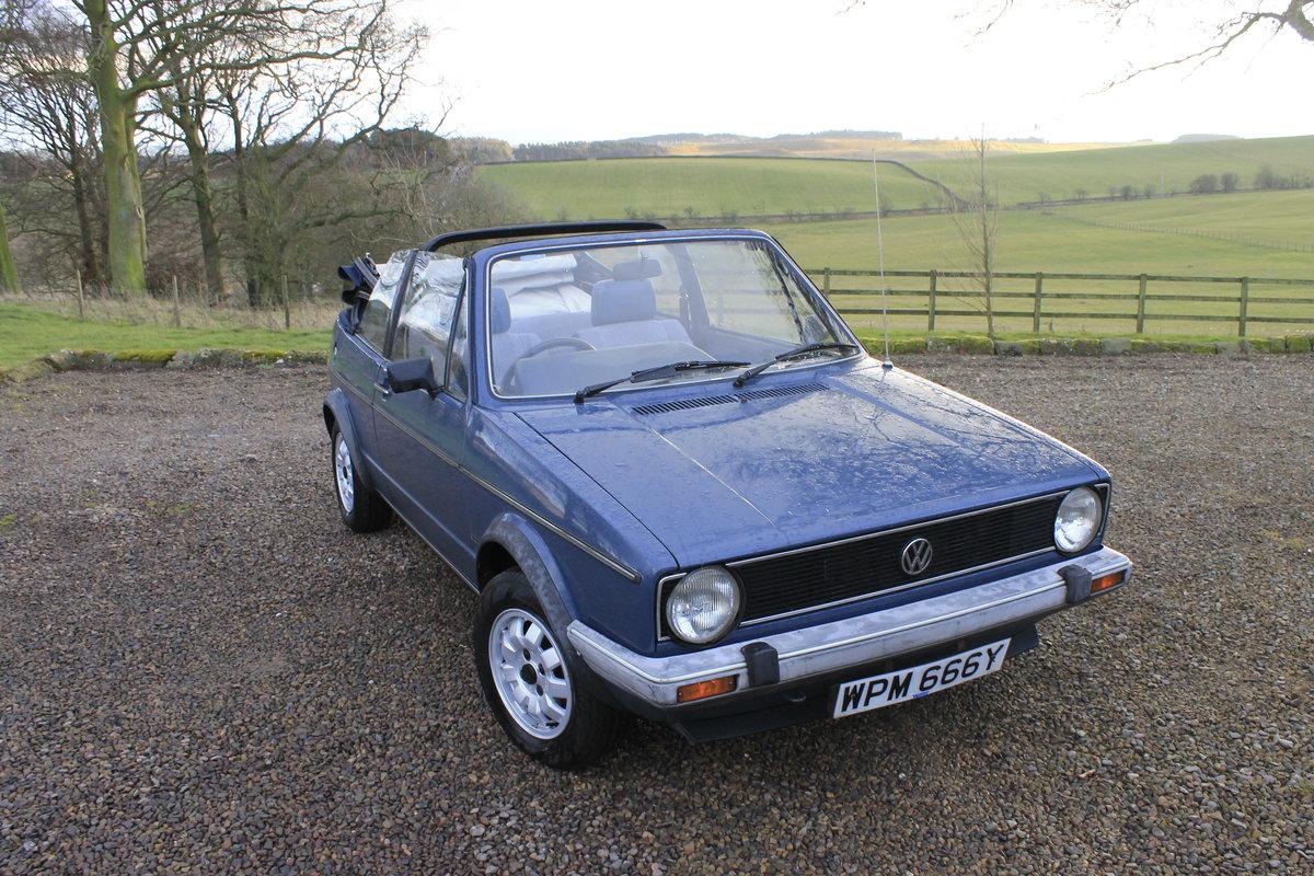 1982 Mark 1 Golf GLI Convertible Karmann For Sale (picture 1 of 6)