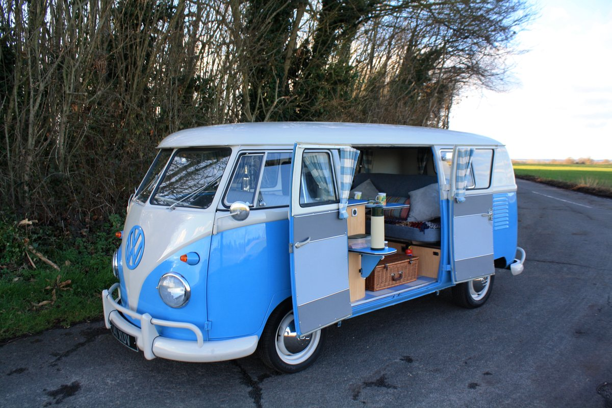 1962 vw split screen camper van right hand drive restored for sale car and classic. Black Bedroom Furniture Sets. Home Design Ideas