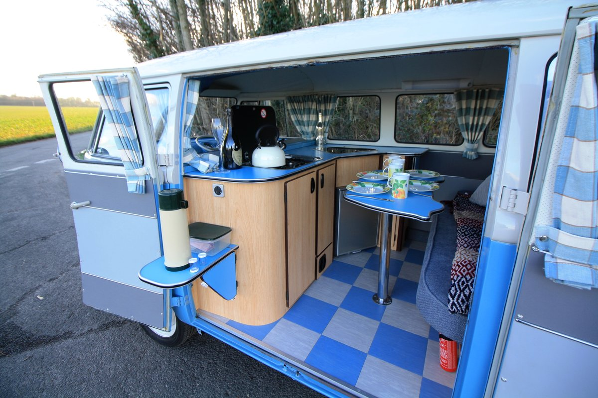 1962 VW Split Screen Camper Van – Right Hand Drive. Restored For Sale (picture 6 of 6)