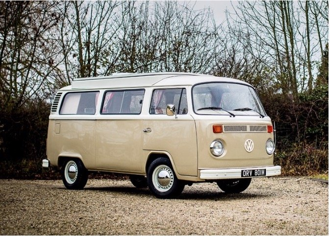 1974 Volkswagen T2 Camper SOLD by Auction (picture 1 of 6)
