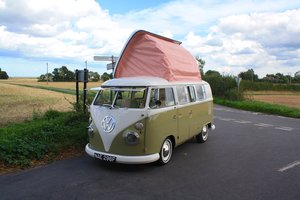 1967 VW Split Screen Camper Van – Pop Top RHD Walk Through. For Sale