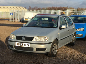 2000 Volkswagen Polo E For Sale by Auction 23rd February SOLD by Auction