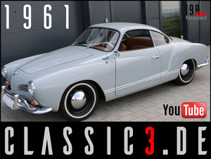 1961 VOLKSWAGEN KARMANN GHIA COUPE TYPE 14 RESTORED! WATCH VIDEO! For Sale