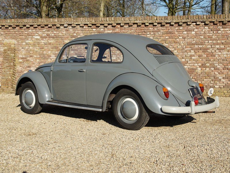 1955 Volkswagen Beetle Oval 1200 matching numbers, full known his For Sale (picture 2 of 6)